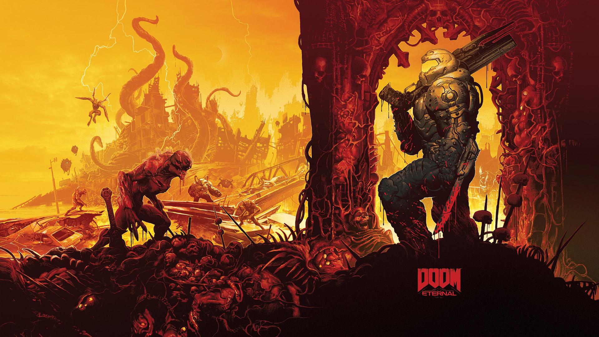 Free Doom Eternal Wallpaper in 1920x1080