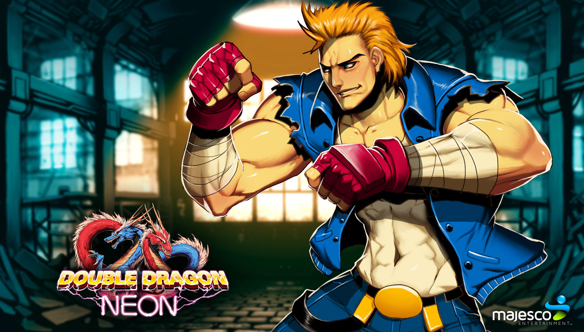 Free Double Dragon Neon Wallpaper in 1920x1080
