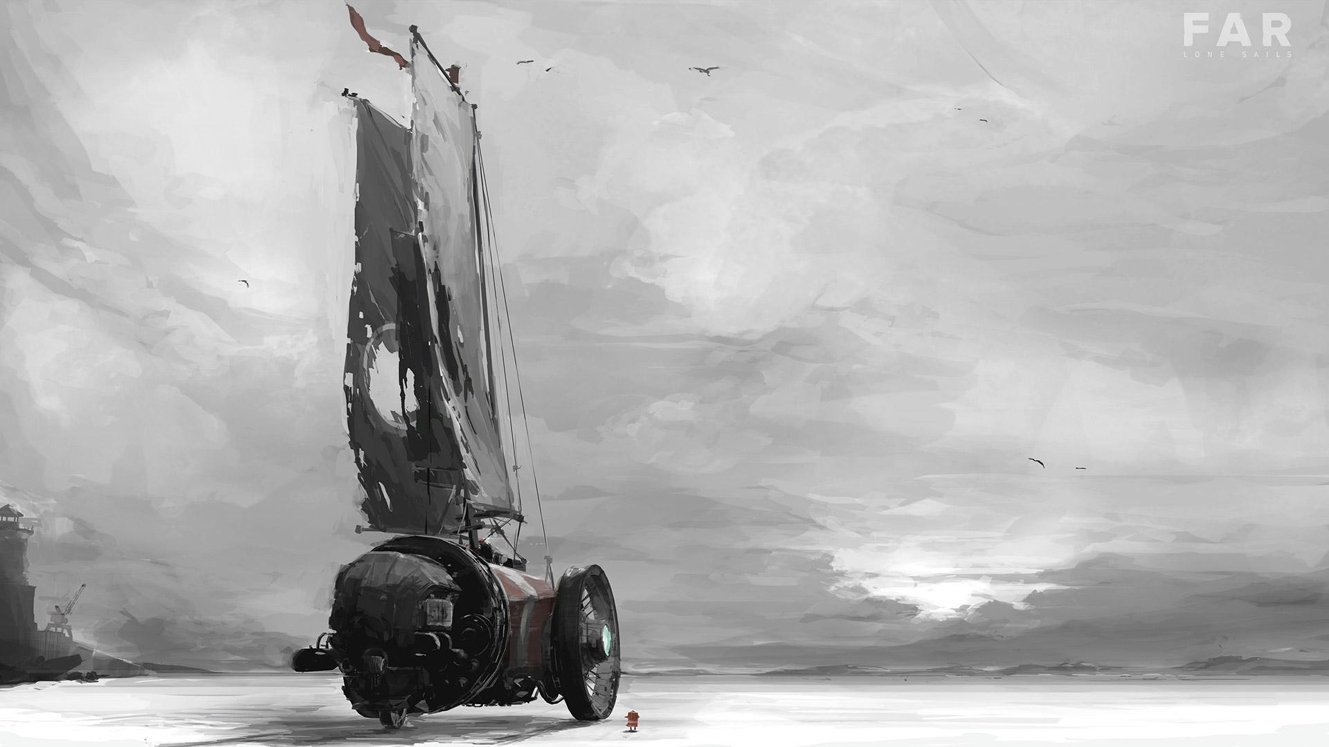 FAR: Lone Sails Wallpaper in 1920x1080