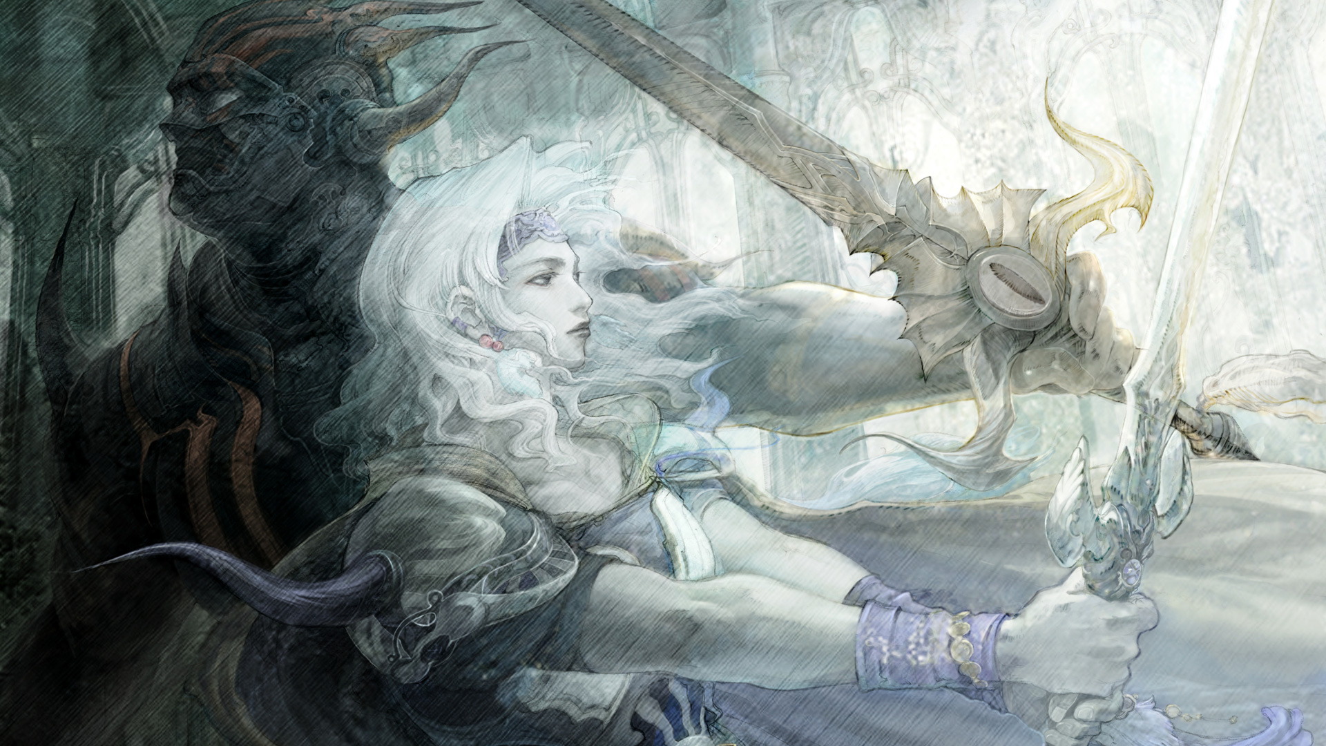 Free Final Fantasy IV Wallpaper in 1920x1080