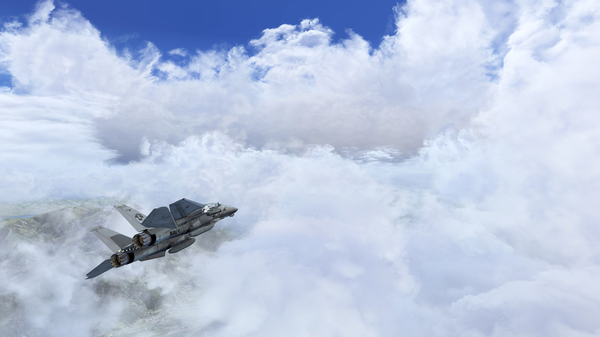 Free Flight Simulator X Wallpaper in 1920x1080