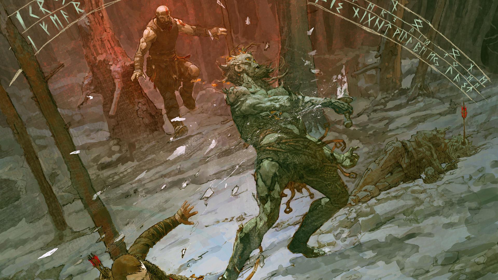 Free God of War (2018) Wallpaper in 1920x1080