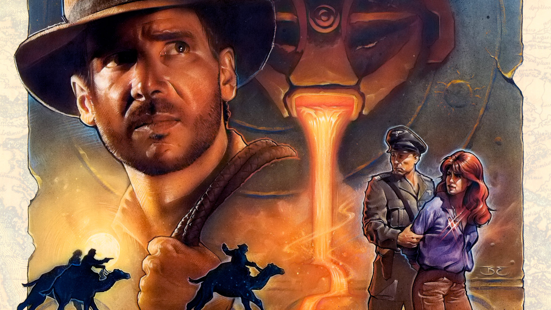 Free Indiana Jones and the Fate of Atlantis Wallpaper in 1920x1080