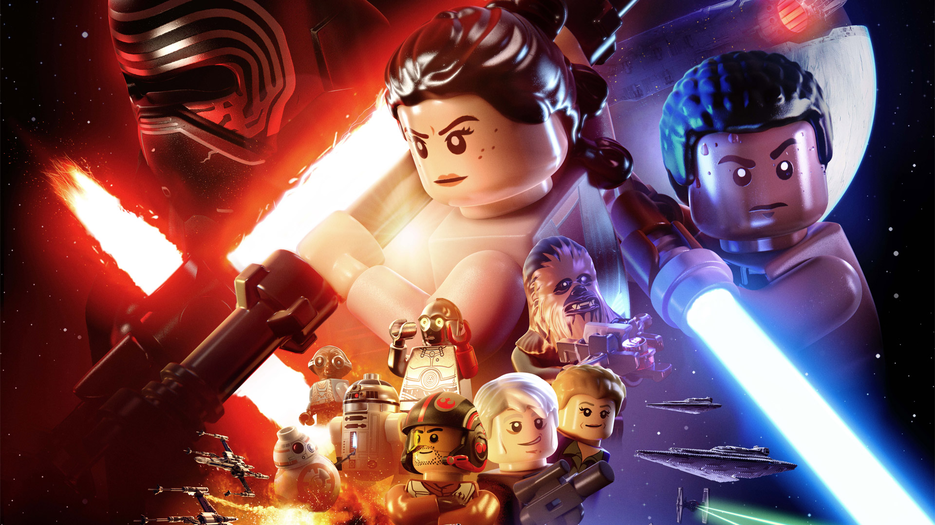 Free Lego Star Wars: The Force Awakens Wallpaper in 1920x1080