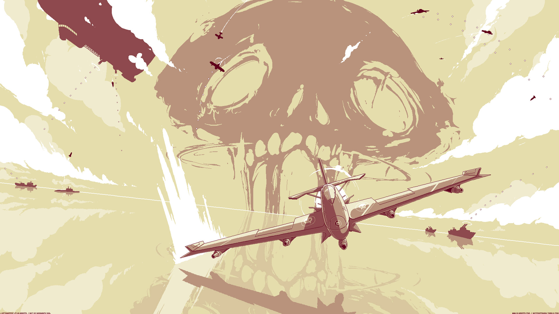 Free Luftrausers Wallpaper in 1920x1080