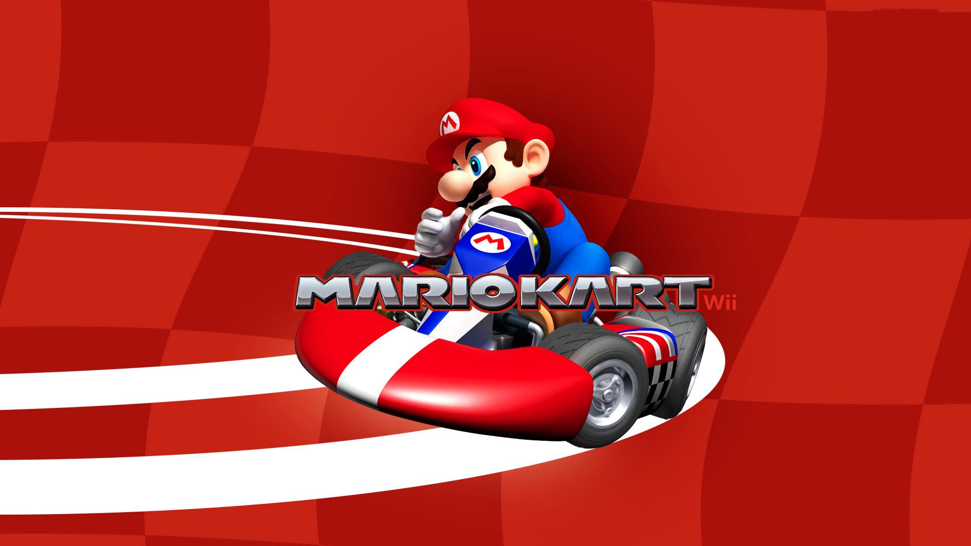 Free Mario Kart Wii Wallpaper in 1920x1080