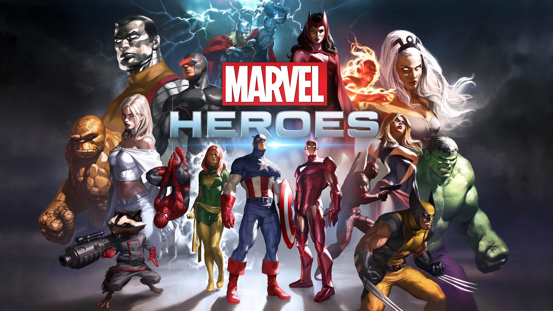 Free Marvel Heroes Wallpaper in 1920x1080