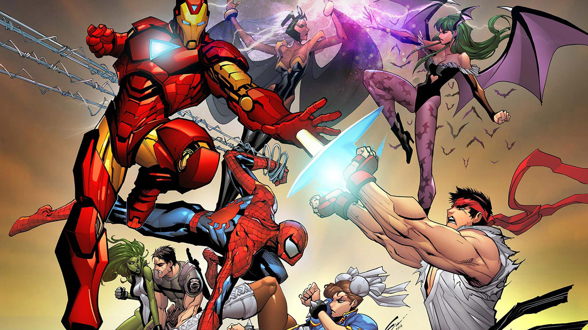 Free Marvel vs. Capcom 3: Fate of Two Worlds Wallpaper in 1920x1080