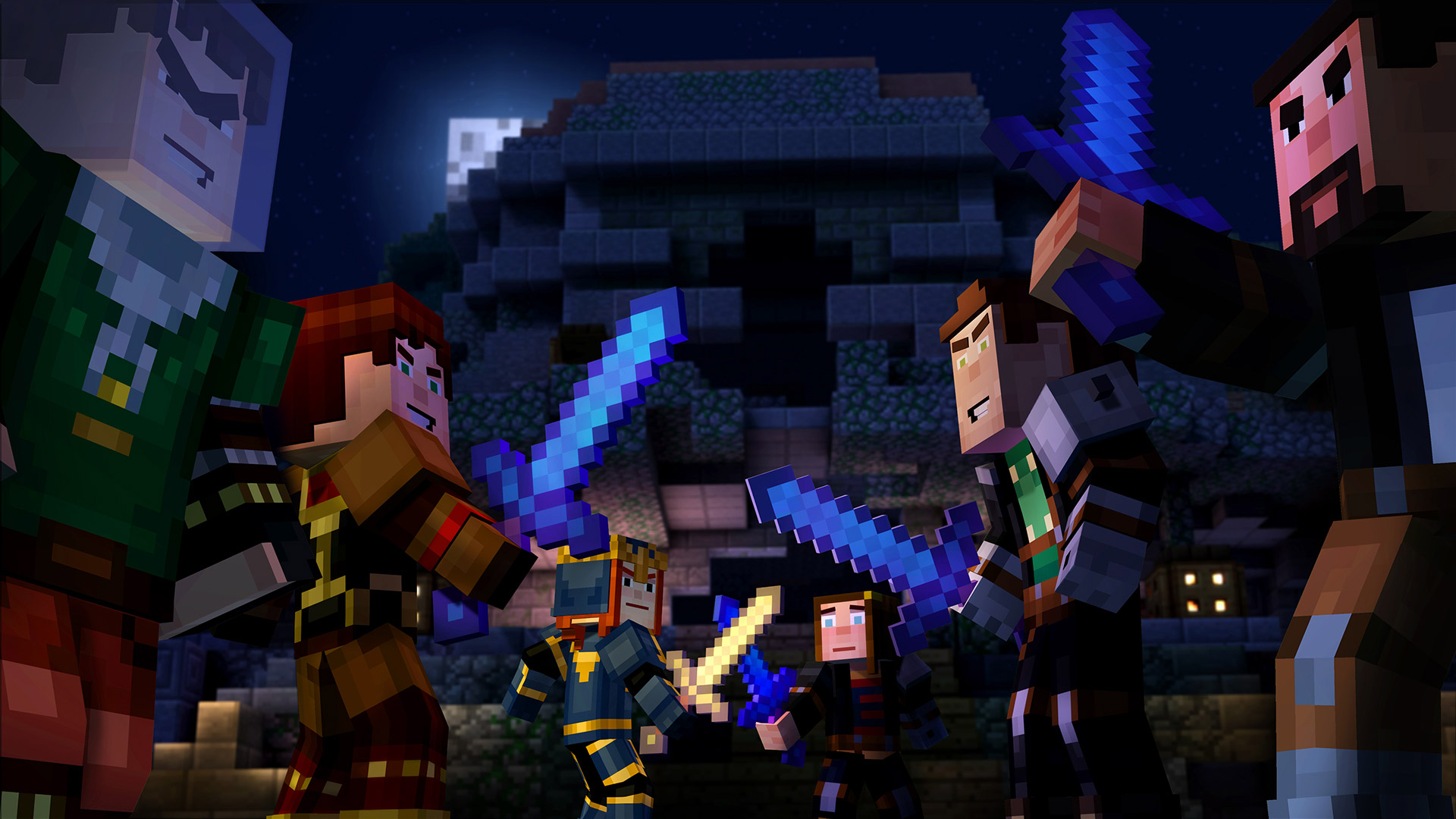Free Minecraft: Story Mode Wallpaper in 1920x1080