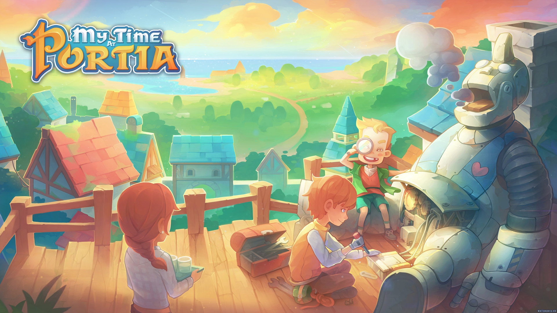 Free My Time at Portia Wallpaper in 1920x1080
