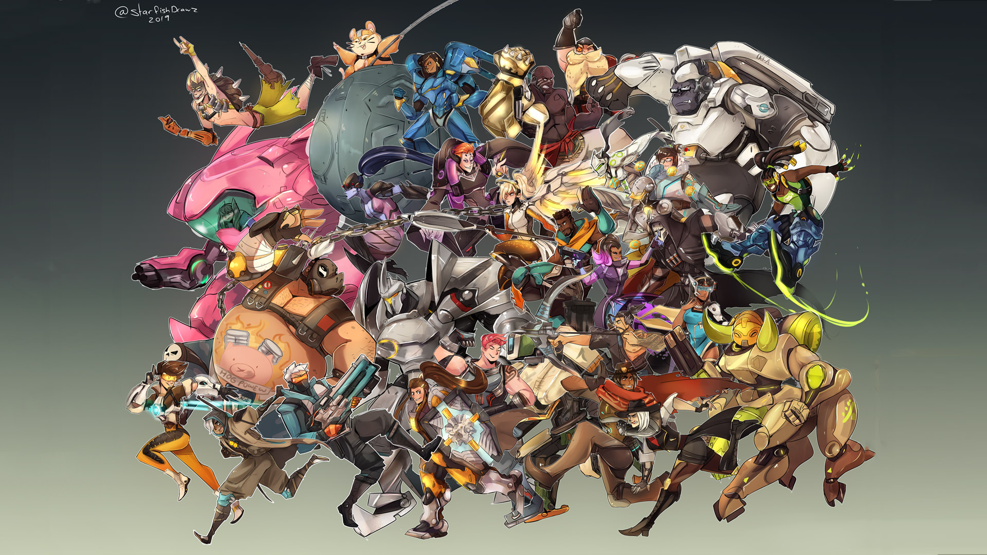 Free Overwatch Wallpaper in 1920x1080