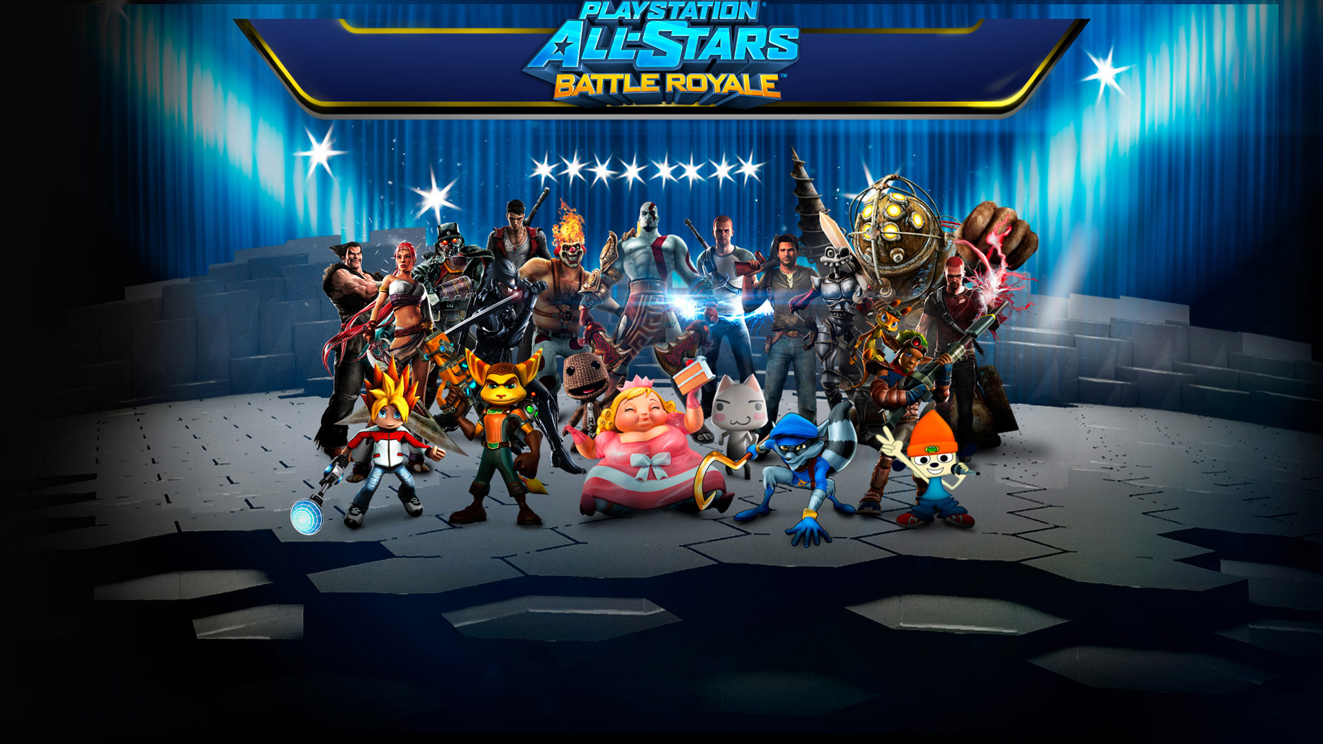 Free PlayStation All-Stars Battle Royale Wallpaper in 1920x1080