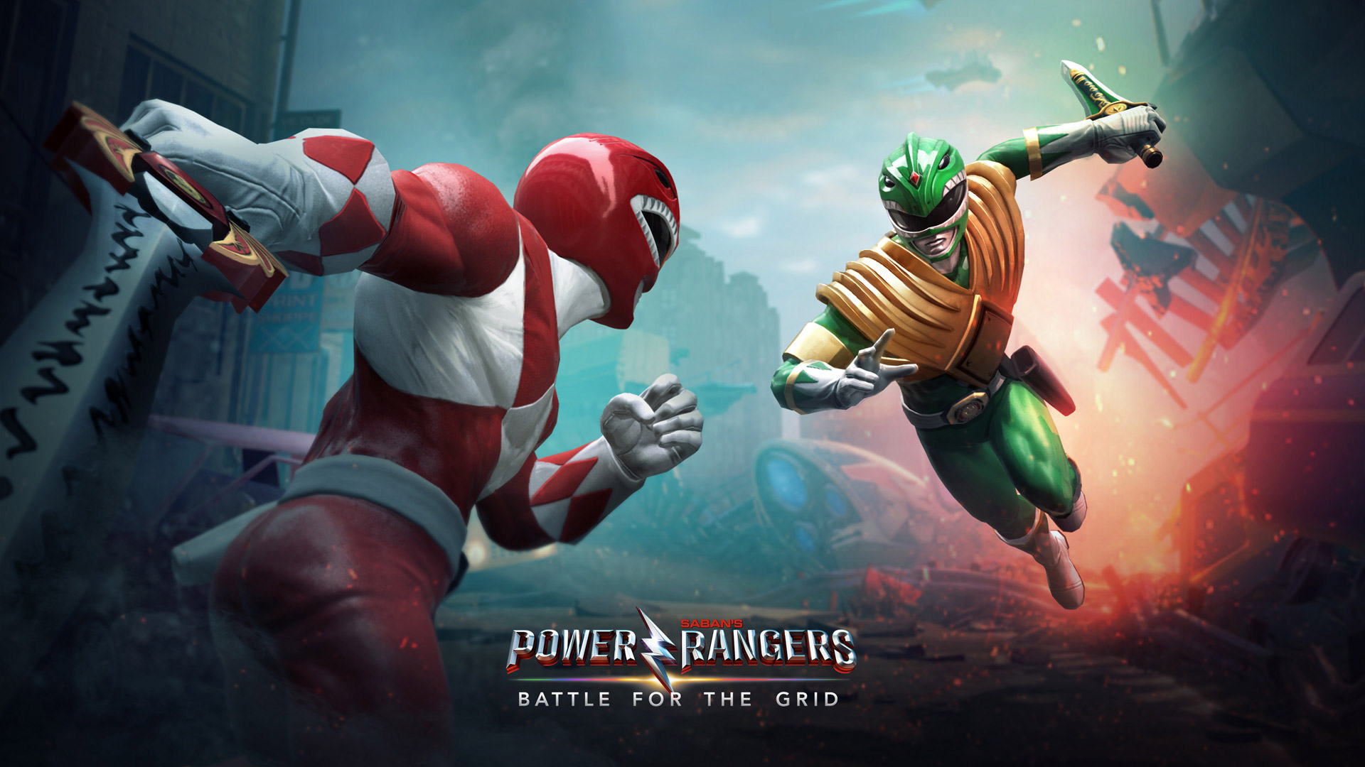Free Power Rangers: Battle for the Grid Wallpaper in 1920x1080