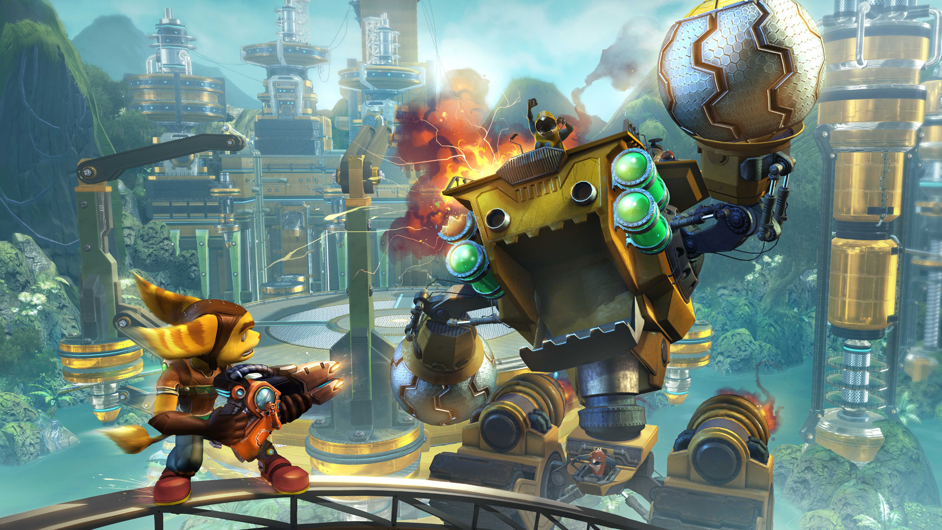 Free Ratchet & Clank Future: Tools of Destruction Wallpaper in 1920x1080