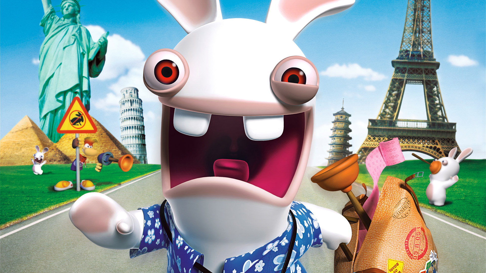 Free Rayman Raving Rabbids 2 Wallpaper in 1920x1080