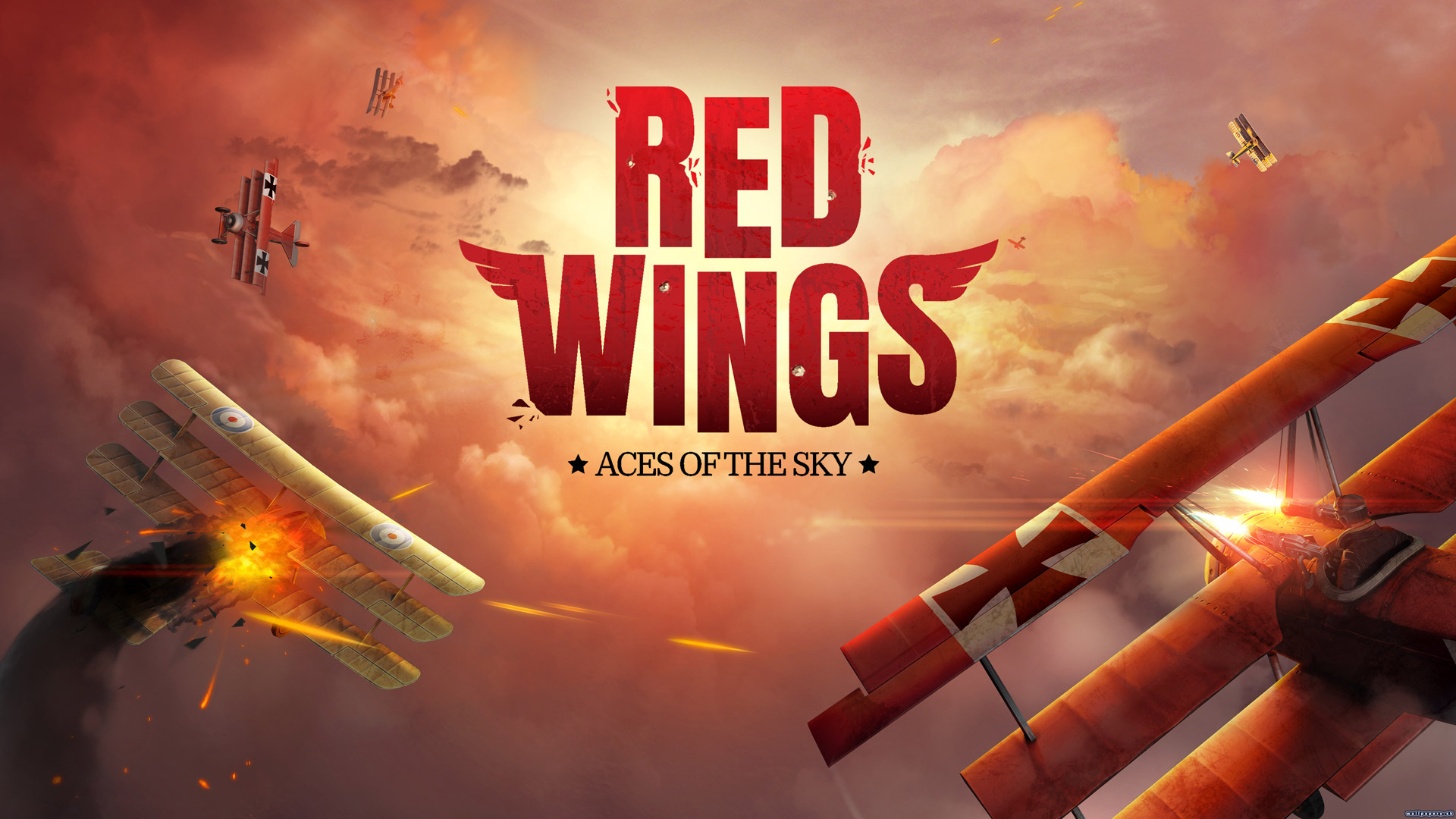 Free Red Wings: Aces of the Sky Wallpaper in 1920x1080