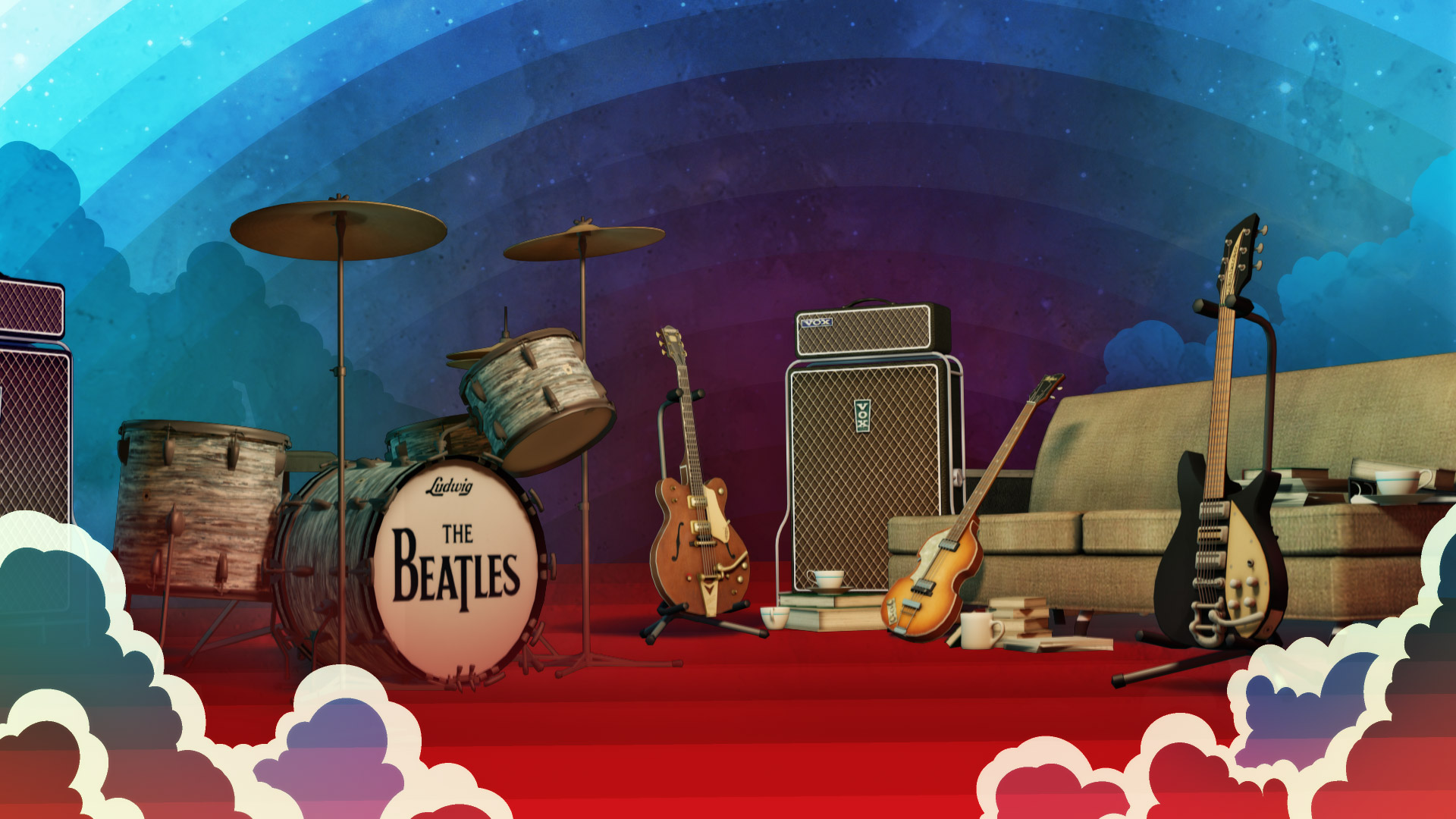 The Beatles: Rock Band Wallpaper in 1920x1080