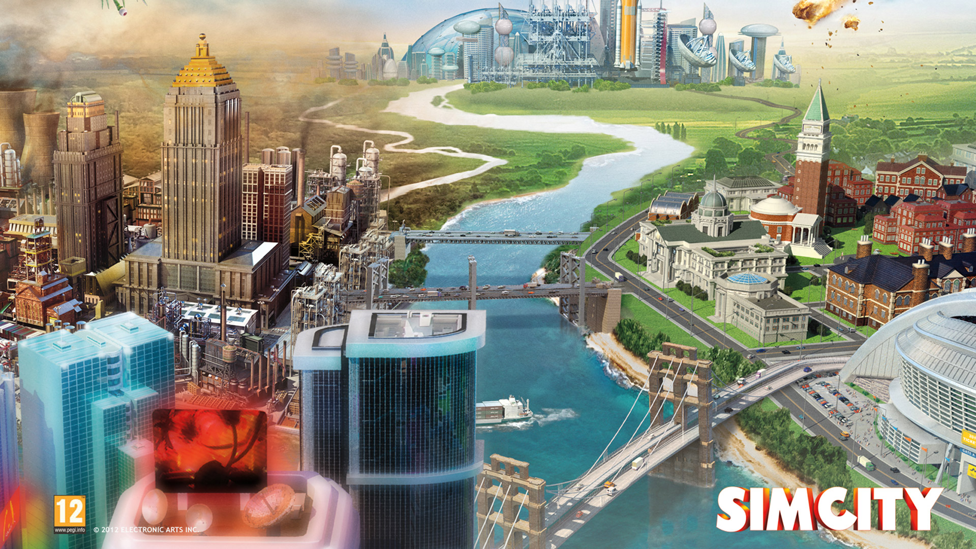 Free SimCity Wallpaper in 1920x1080