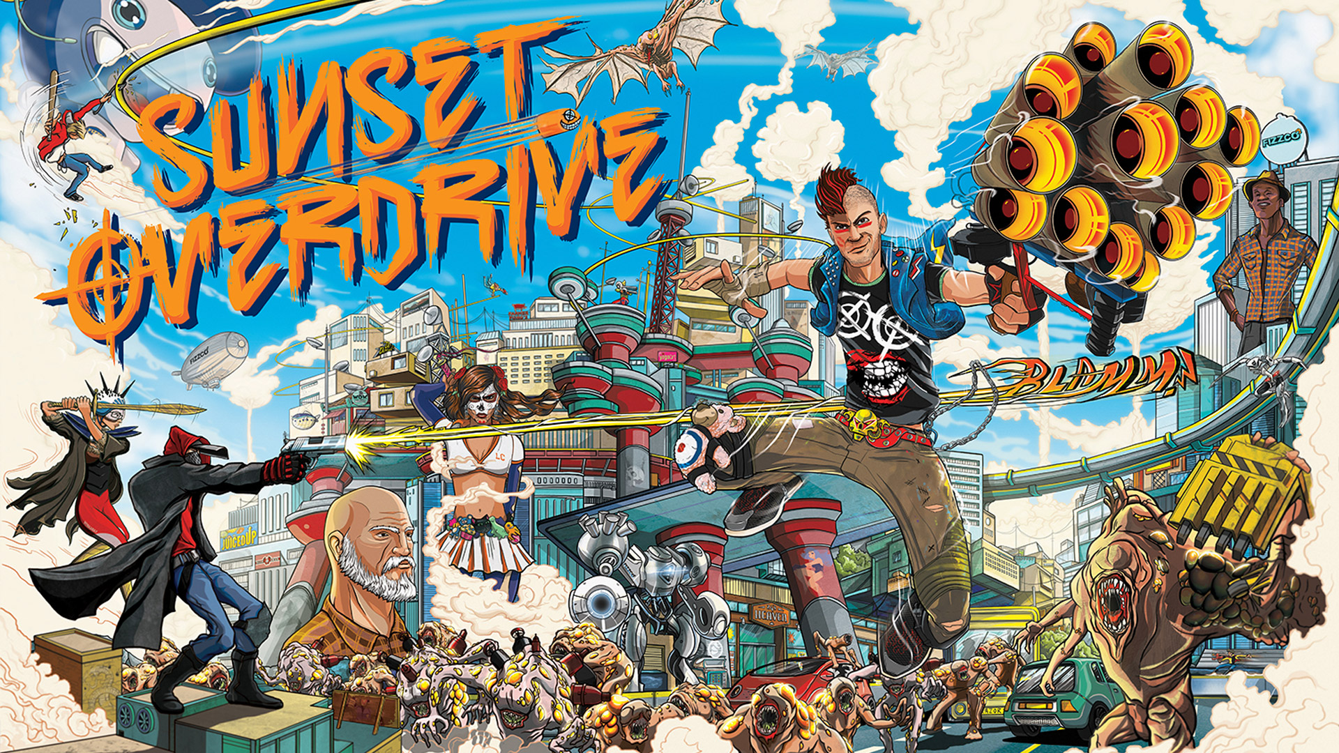 Sunset Overdrive Wallpaper in 1920x1080