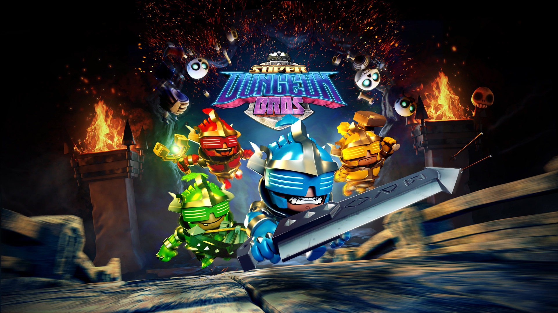 Free Super Dungeon Bros Wallpaper in 1920x1080