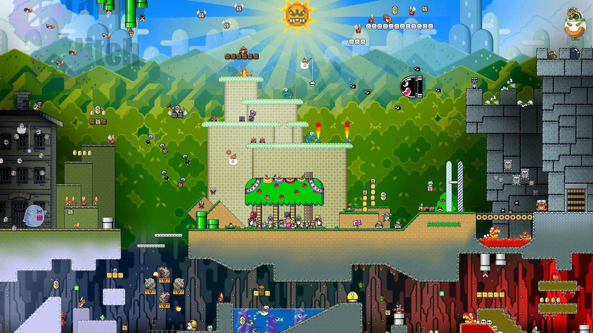 Free Super Mario World Wallpaper in 1920x1080