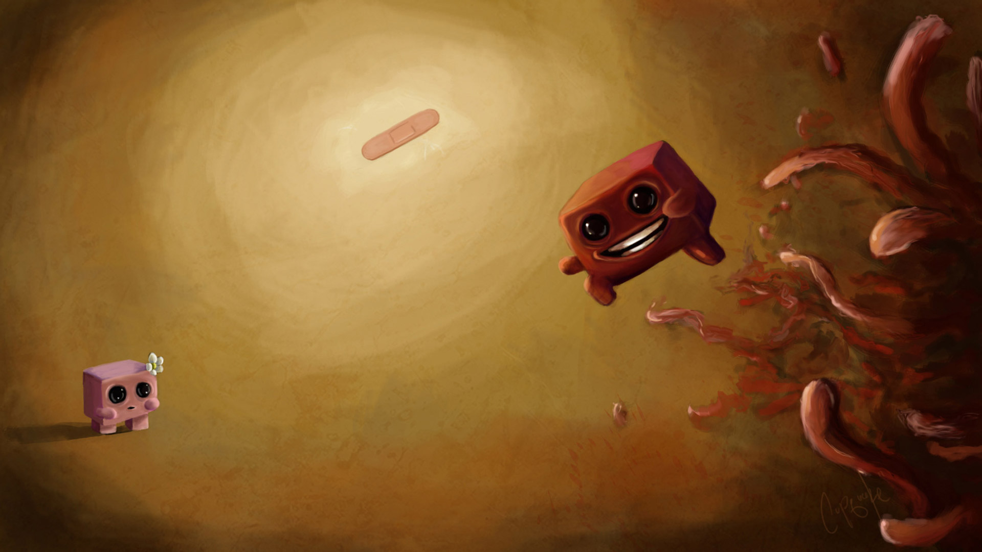 Free Super Meat Boy Wallpaper in 1920x1080