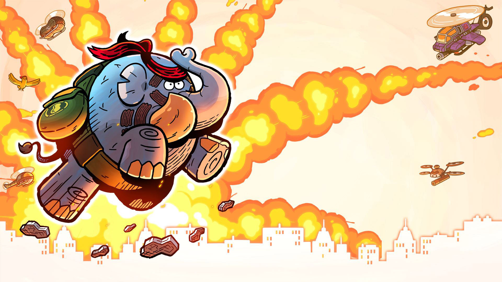 Tembo the Badass Elephant Wallpaper in 1920x1080