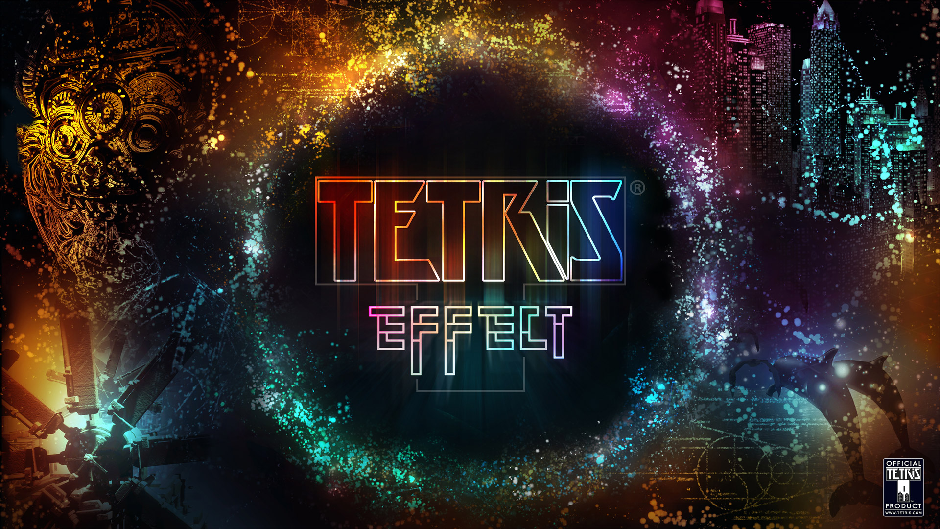 Free Tetris Effect Wallpaper in 1920x1080