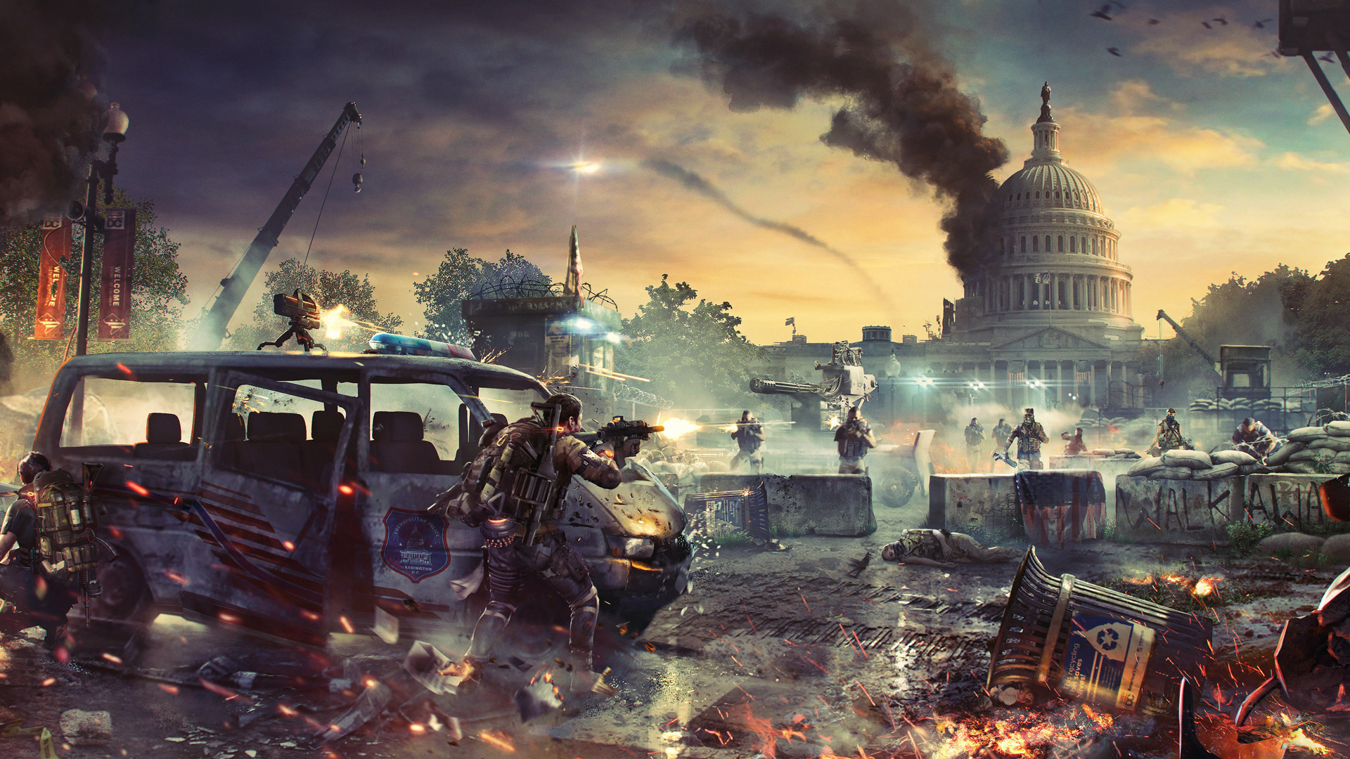 Free The Division 2 Wallpaper in 1920x1080