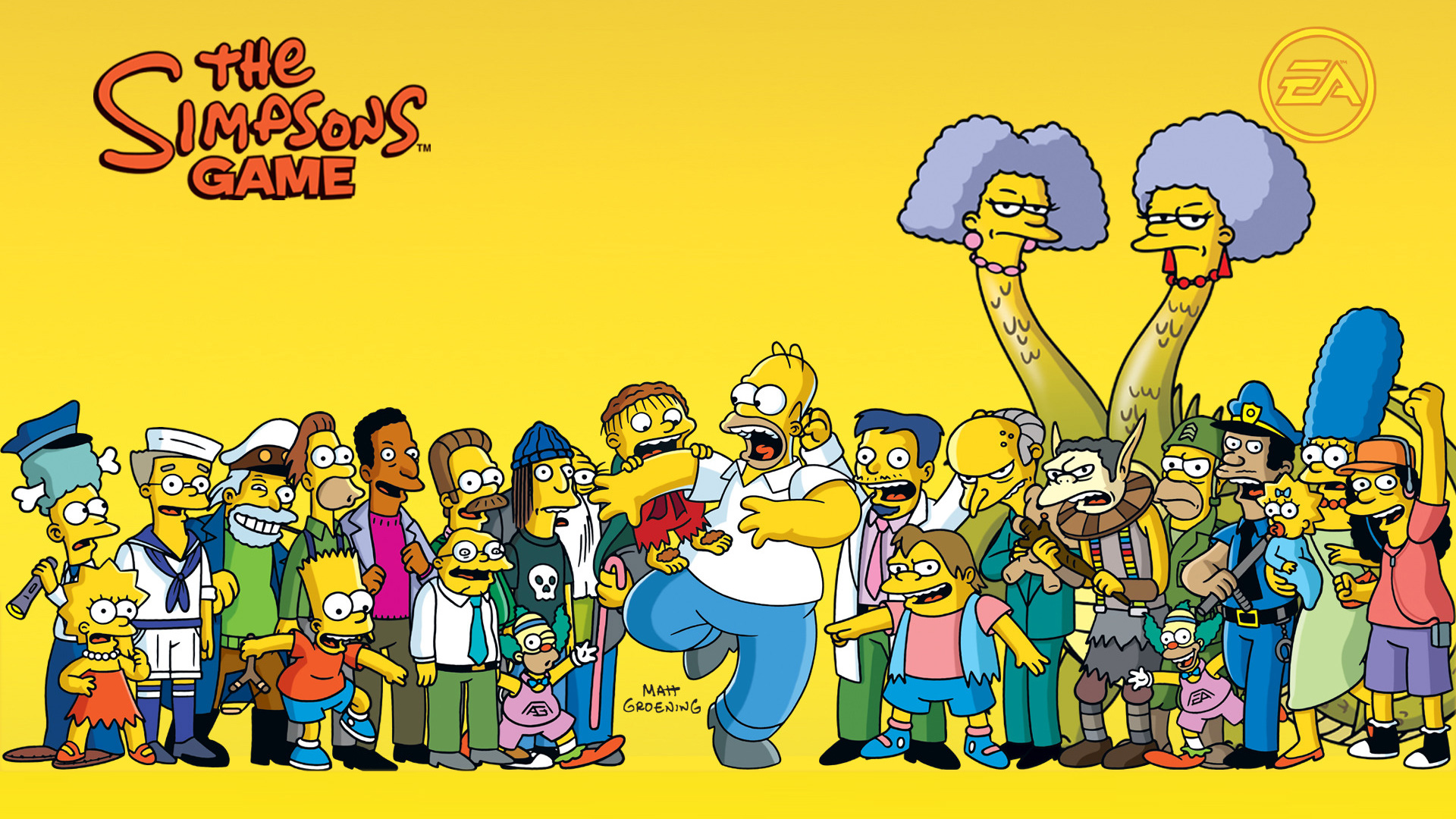 The Simpsons Game Wallpaper in 1920x1080