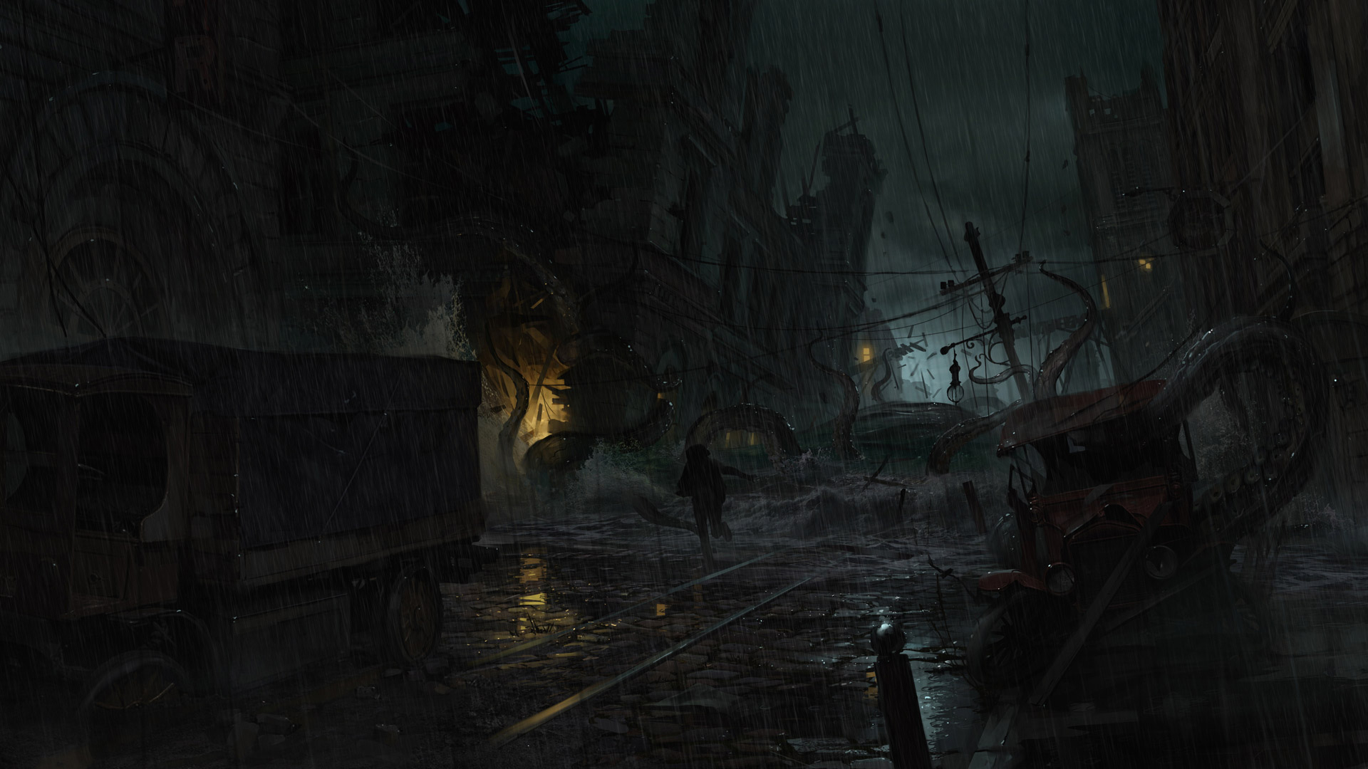 Free The Sinking City Wallpaper in 1920x1080
