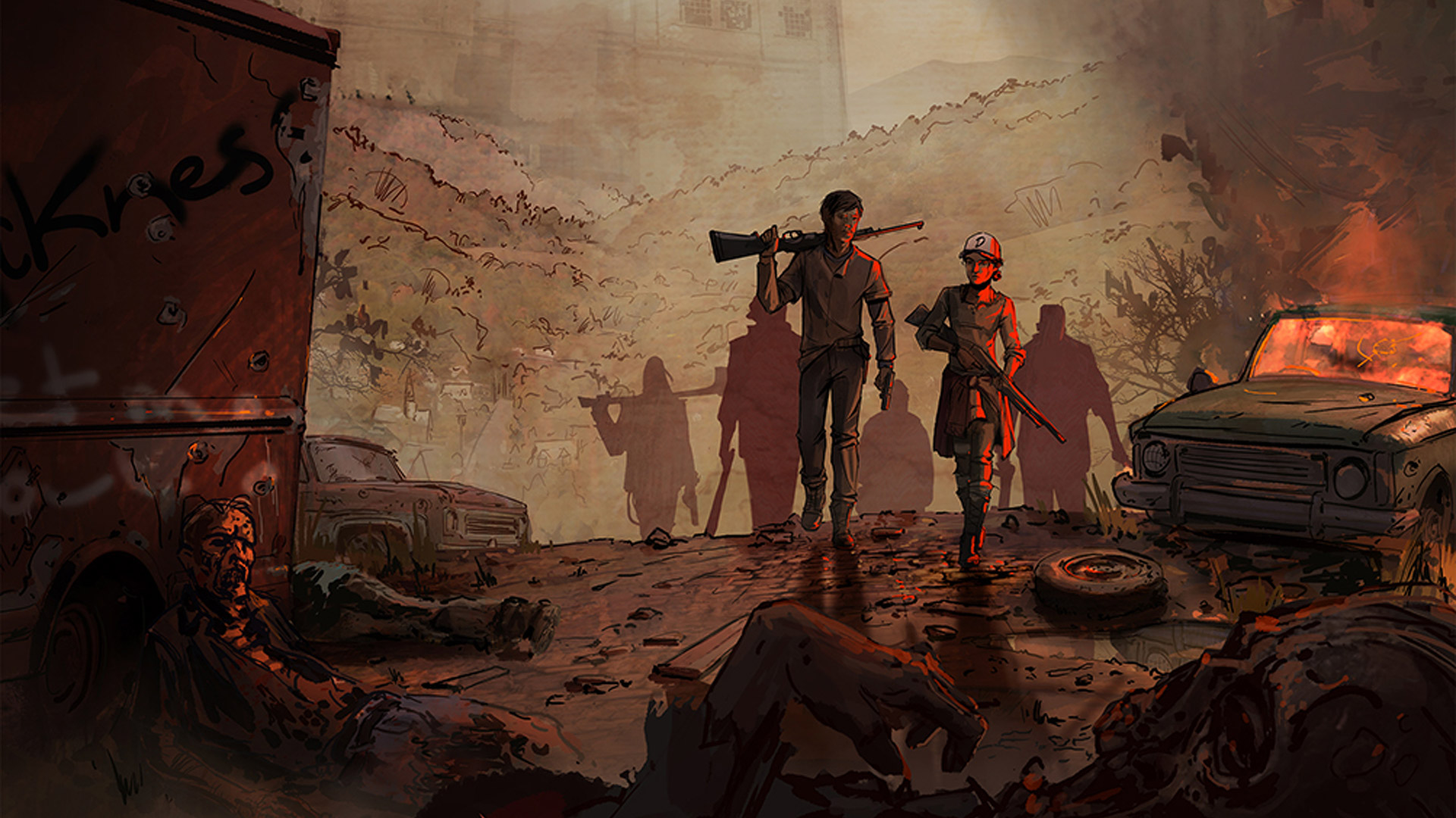 The Walking Dead: A New Frontier Wallpaper in 1920x1080
