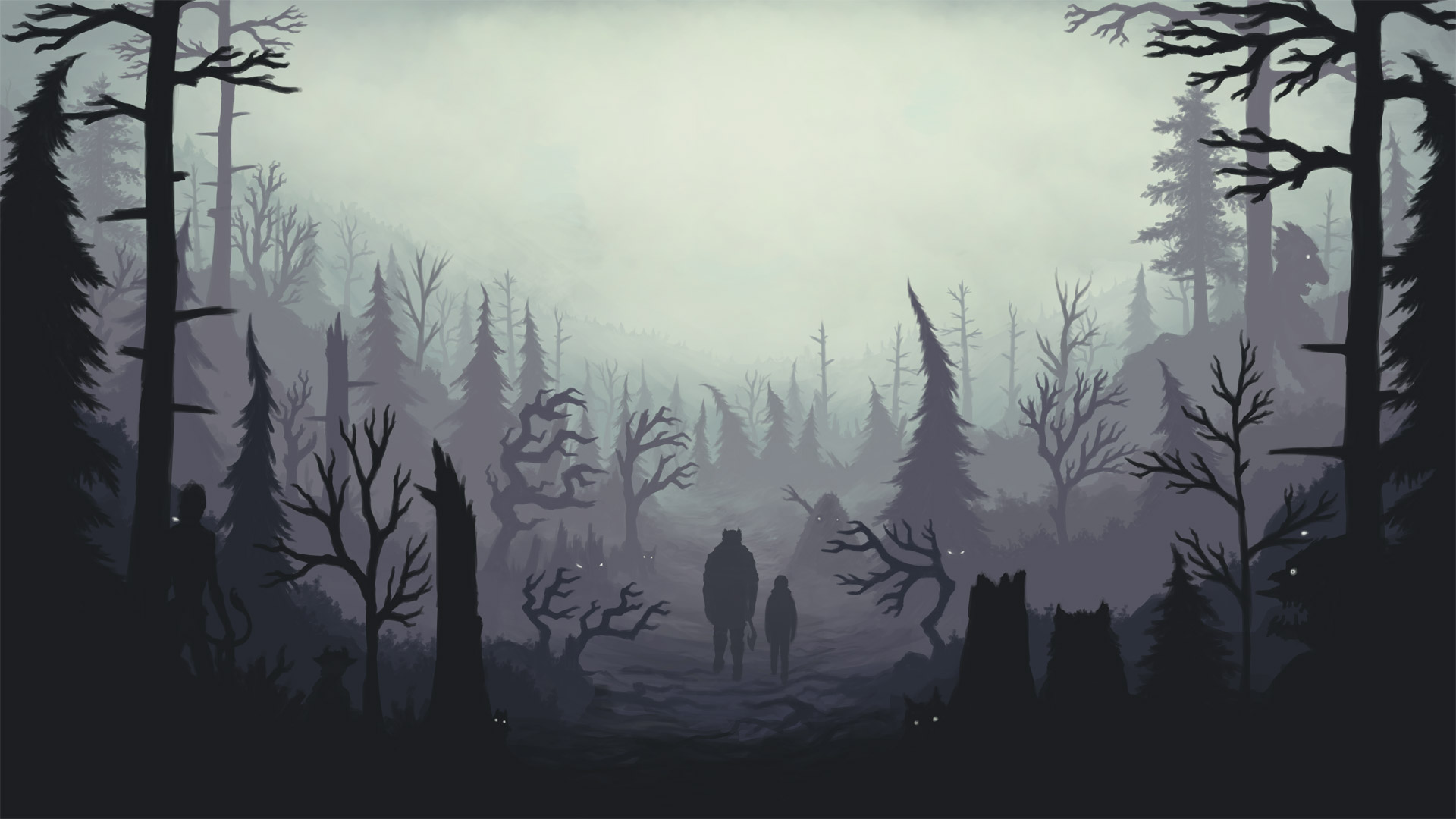 Free Through the Woods Wallpaper in 1920x1080