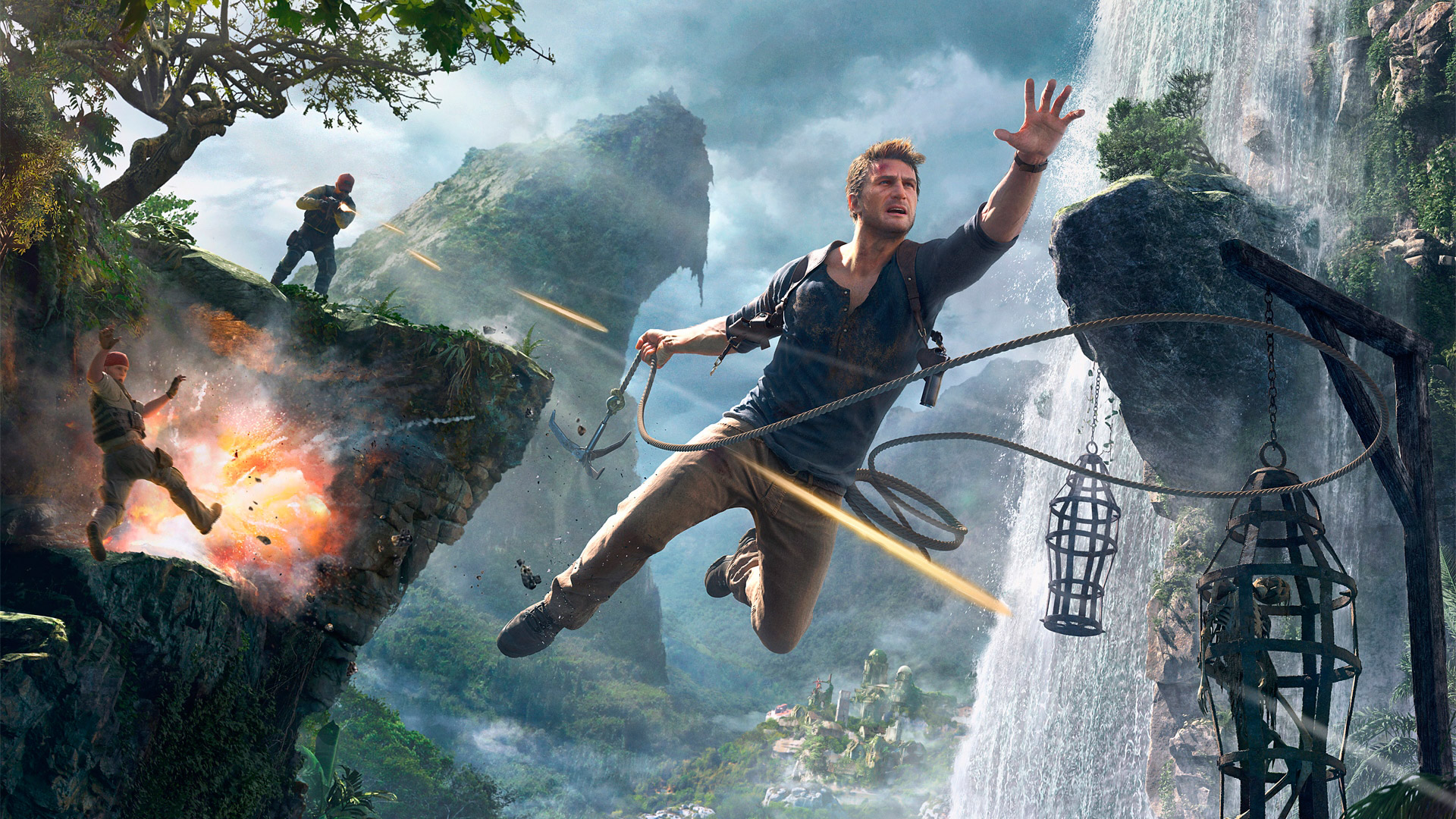 Free Uncharted 4: A Thief's End Wallpaper in 1920x1080