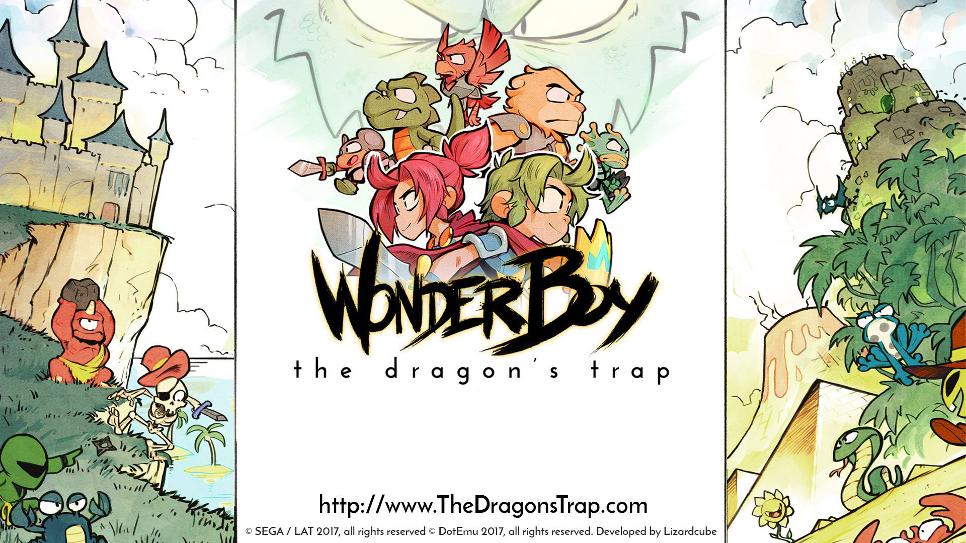 Wonder Boy: The Dragon's Trap Wallpaper in 1920x1080