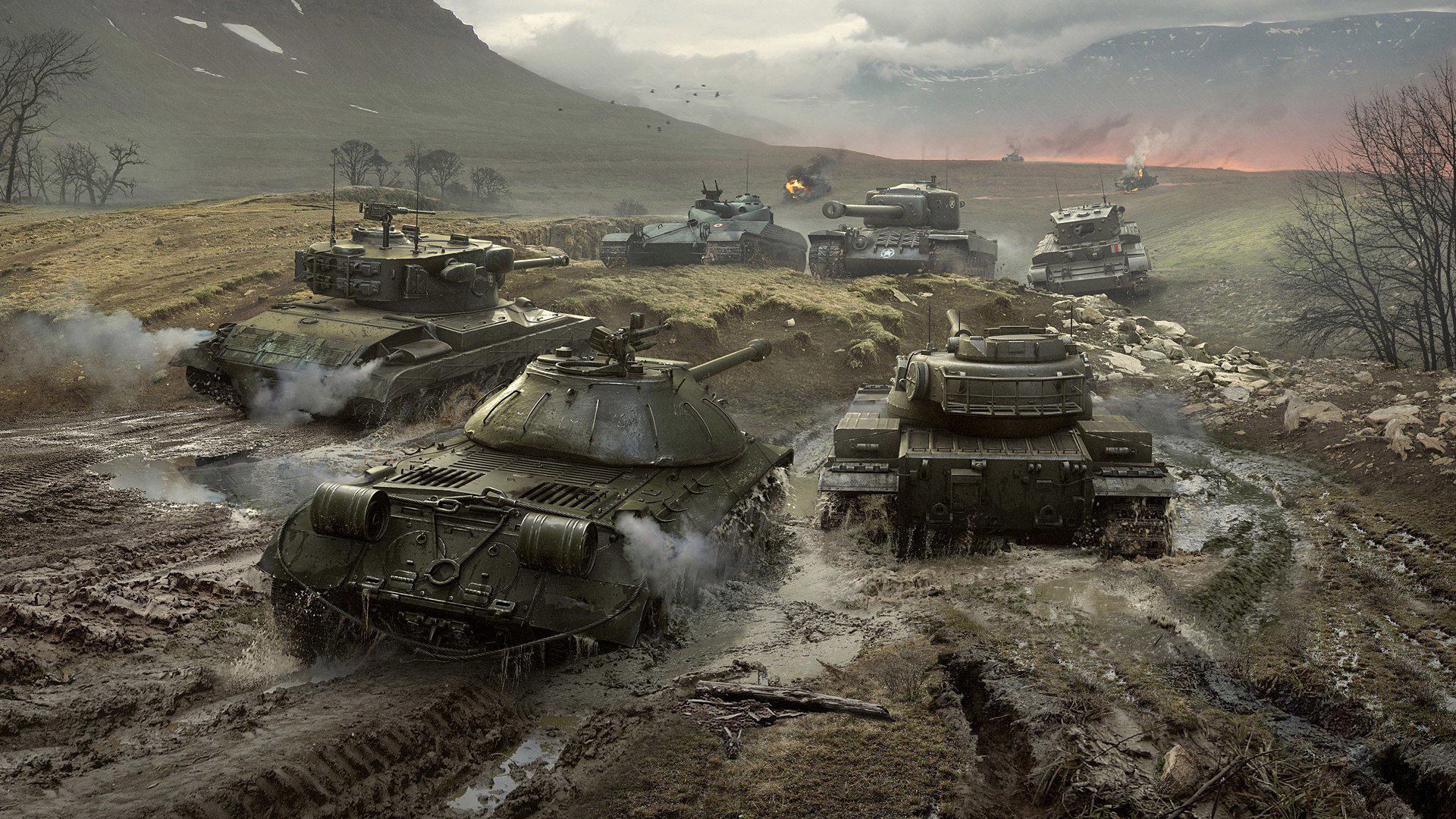Free World of Tanks Wallpaper in 1920x1080