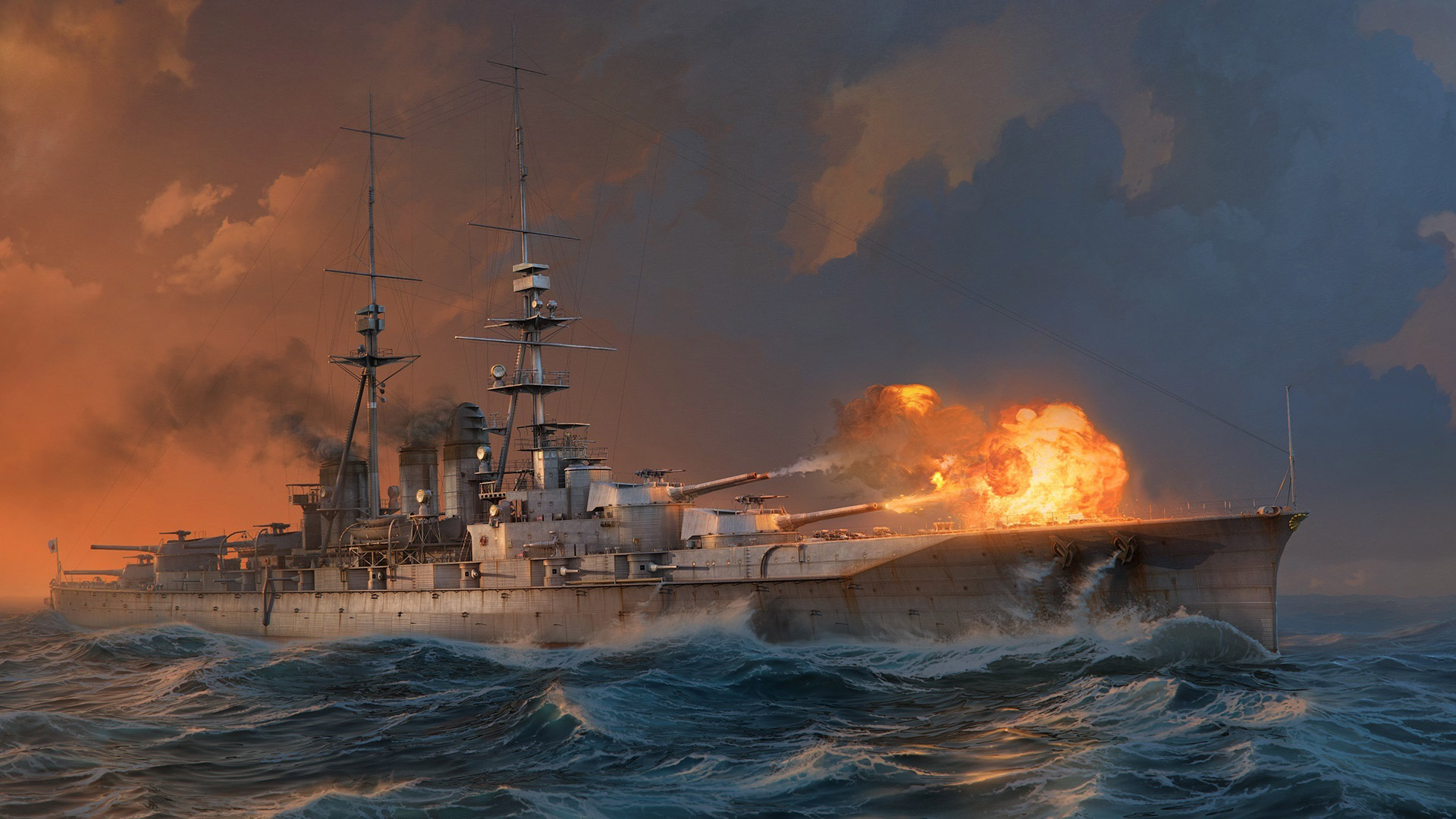 Free World of Warships Wallpaper in 1920x1080
