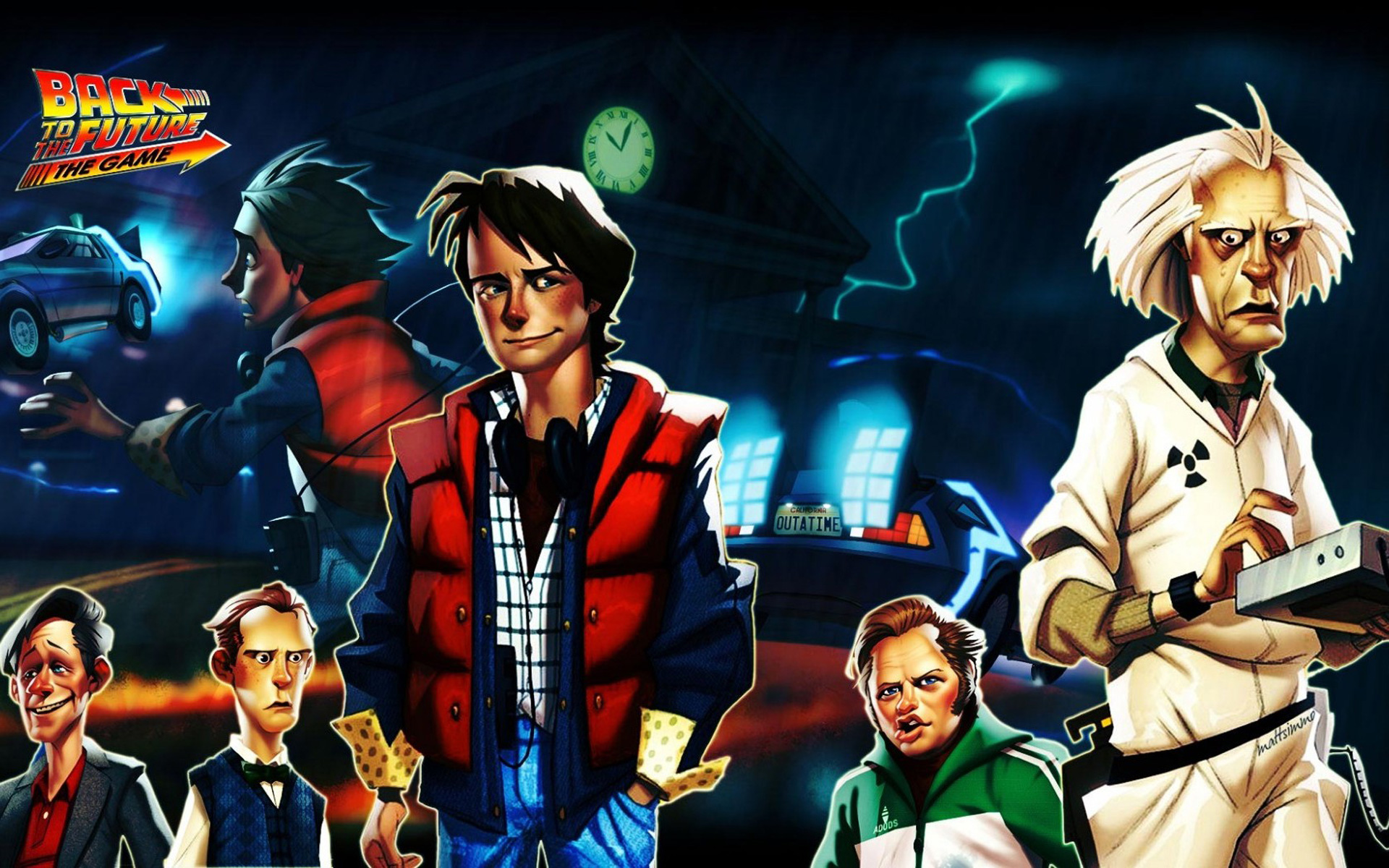 Free Back to the Future: The Game Wallpaper in 1920x1200