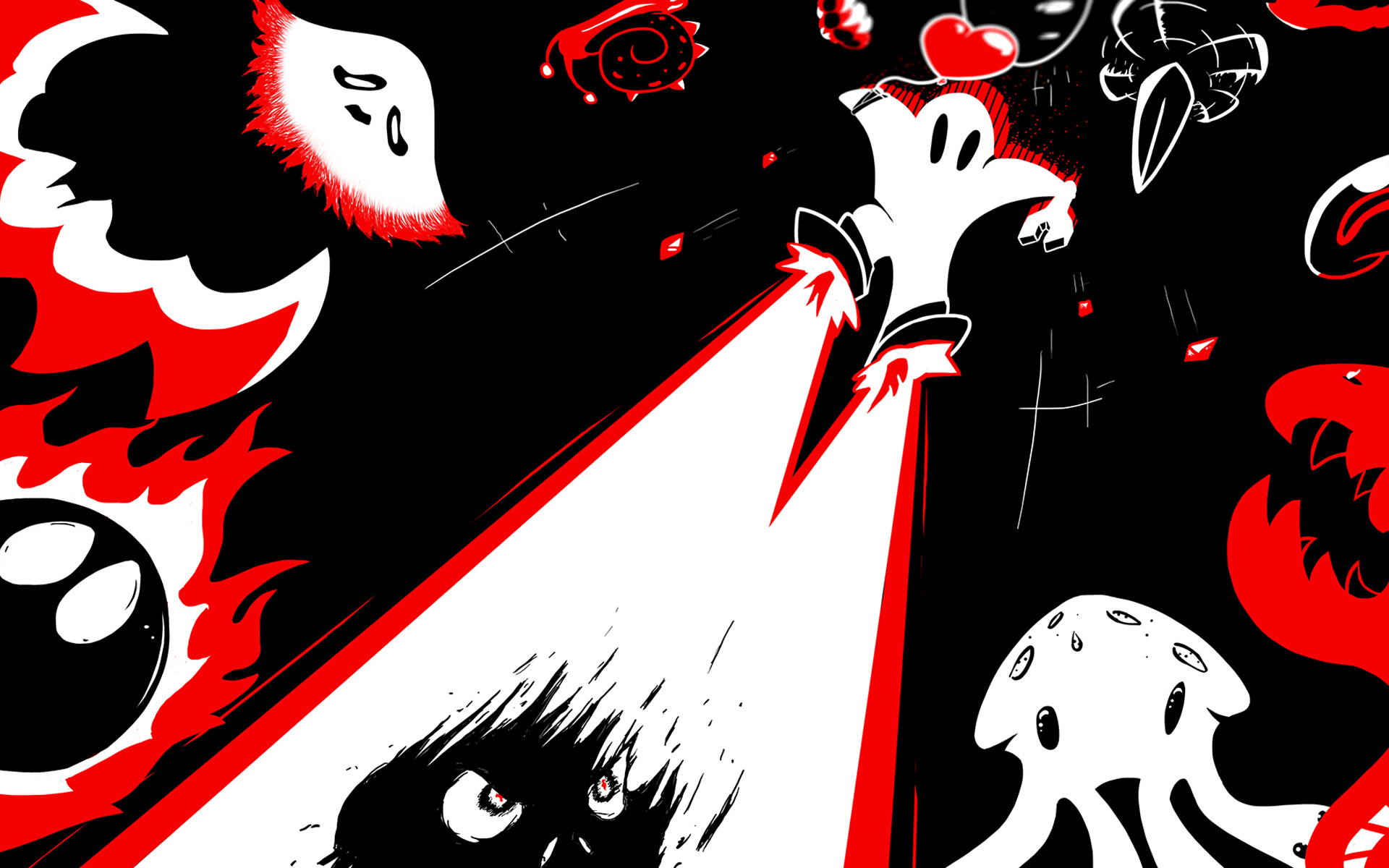 Free Downwell Wallpaper in 1920x1200