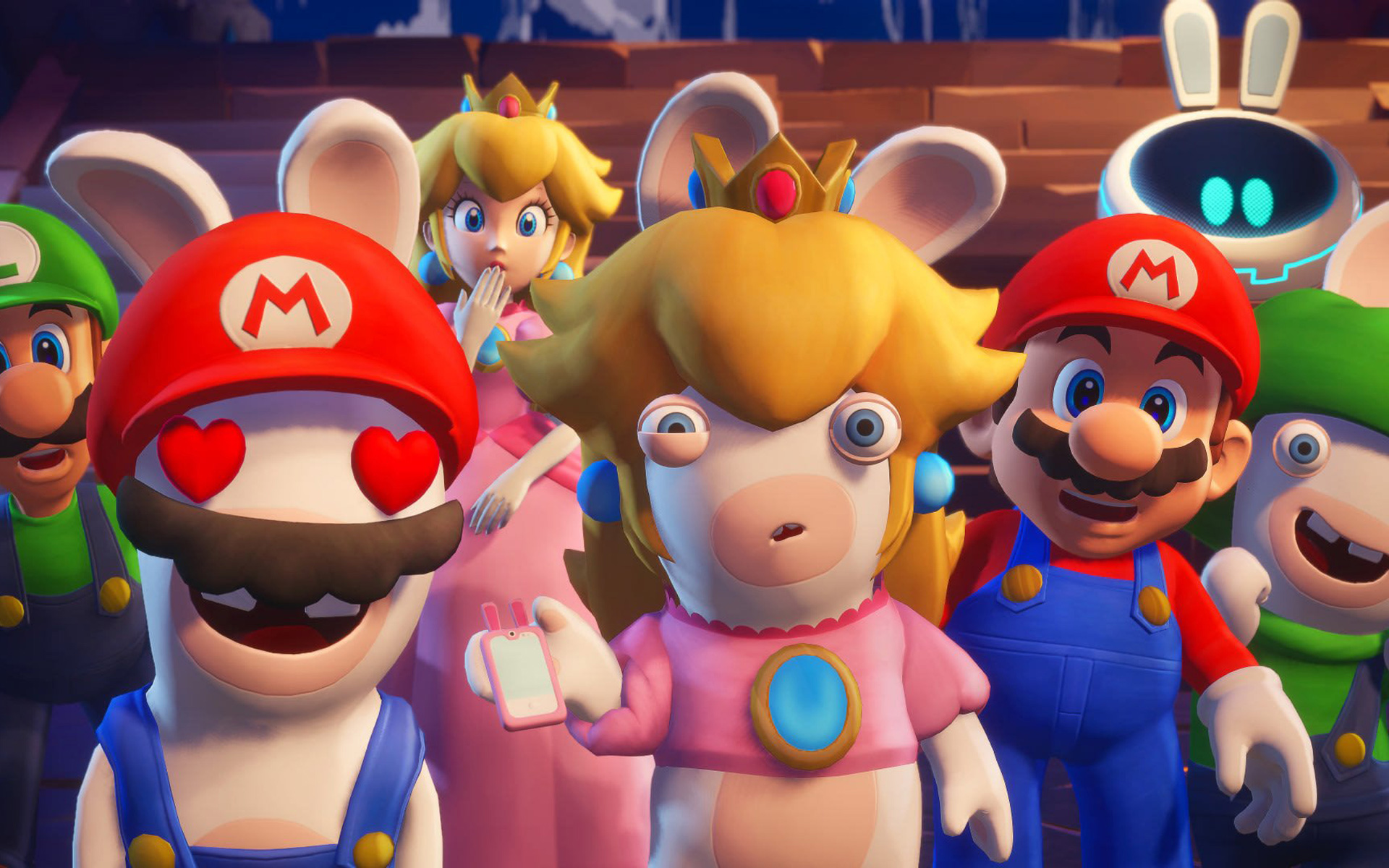 Free Mario + Rabbids: Sparks of Hope Wallpaper in 1920x1200