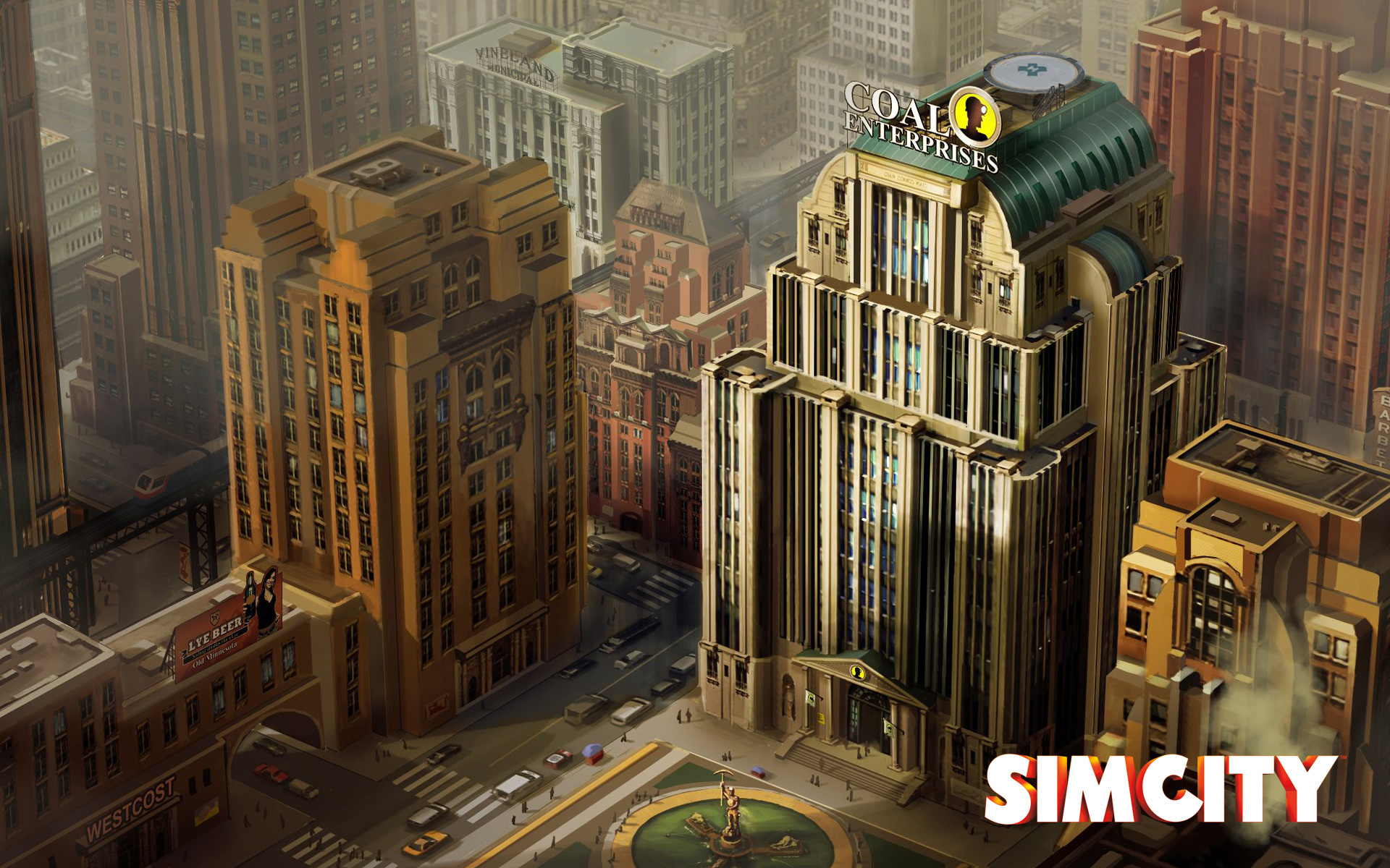 Free SimCity Wallpaper in 1920x1200