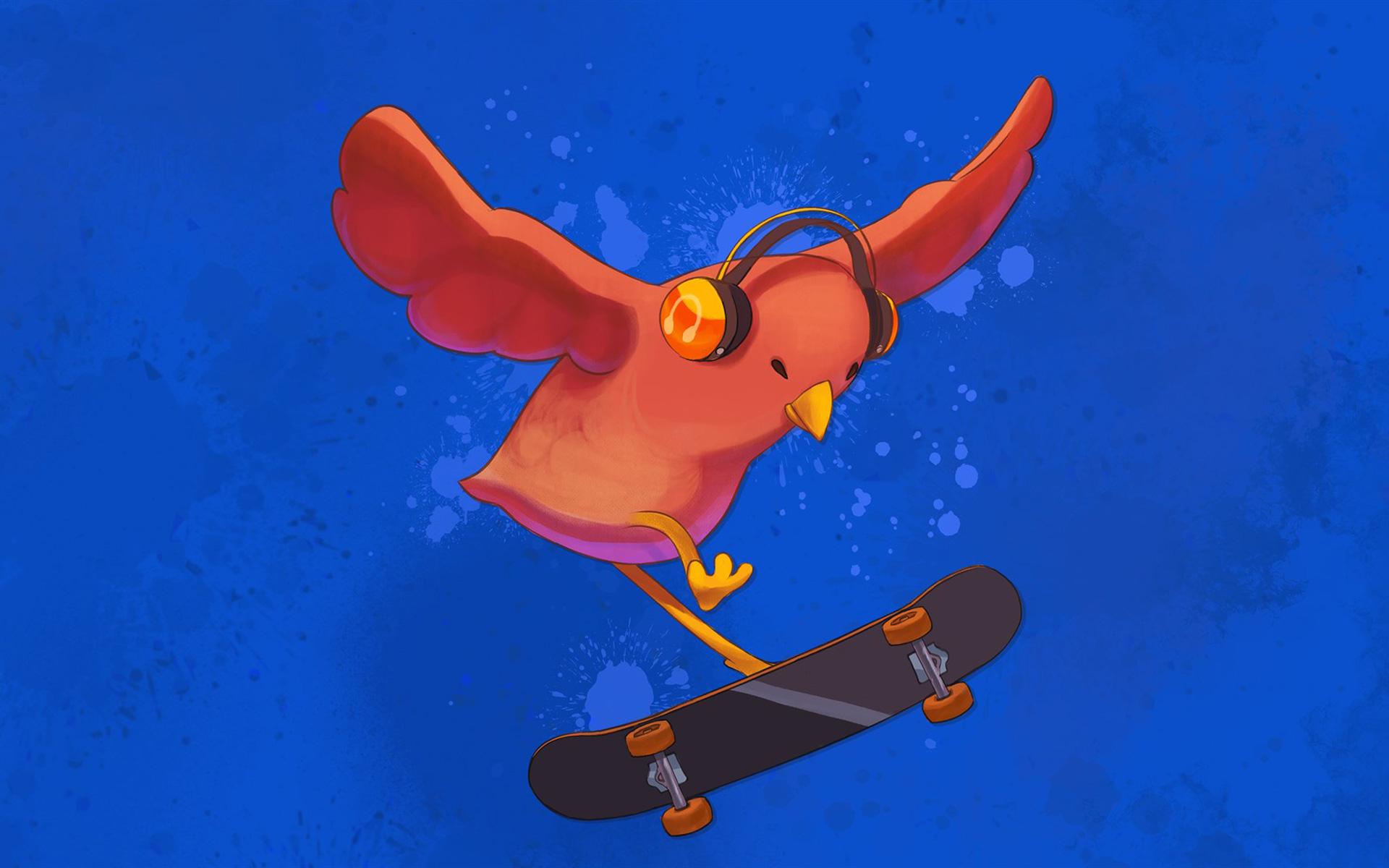 Free Skatebird Wallpaper in 1920x1200