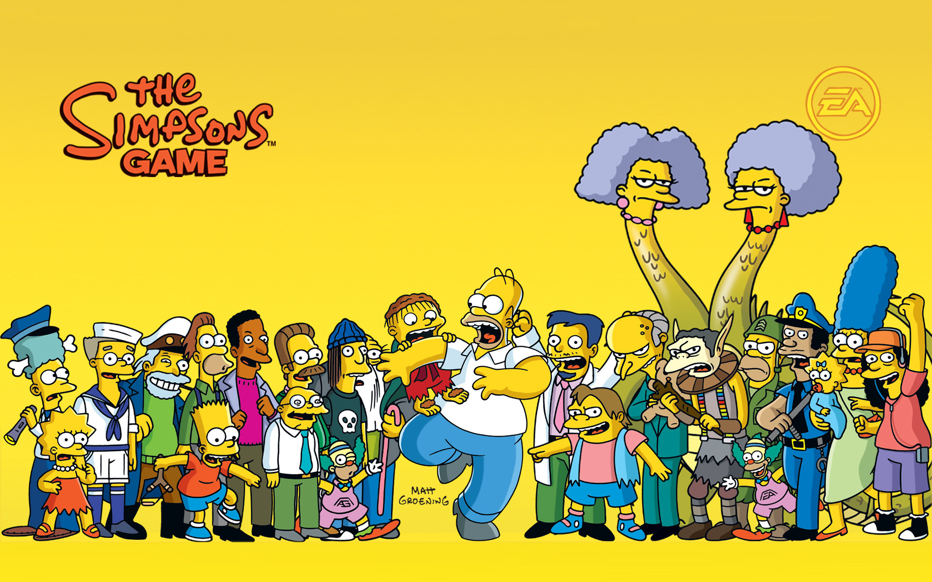 The Simpsons Game Wallpaper in 1920x1200