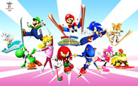 Free Mario & Sonic at the Olympic Winter Games Wallpaper