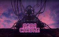 Free Neon Chrome Wallpaper