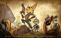 Free Ratchet & Clank Future: Quest for Booty Wallpaper