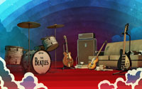 Free The Beatles: Rock Band Wallpaper