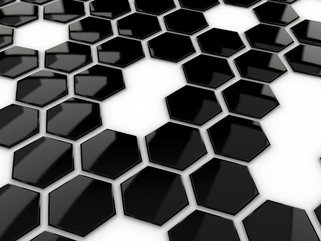 Abstract Wallpaper: 3D Black Buttons
