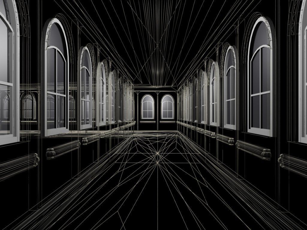 Abstract Wallpaper: 3D Cathedral