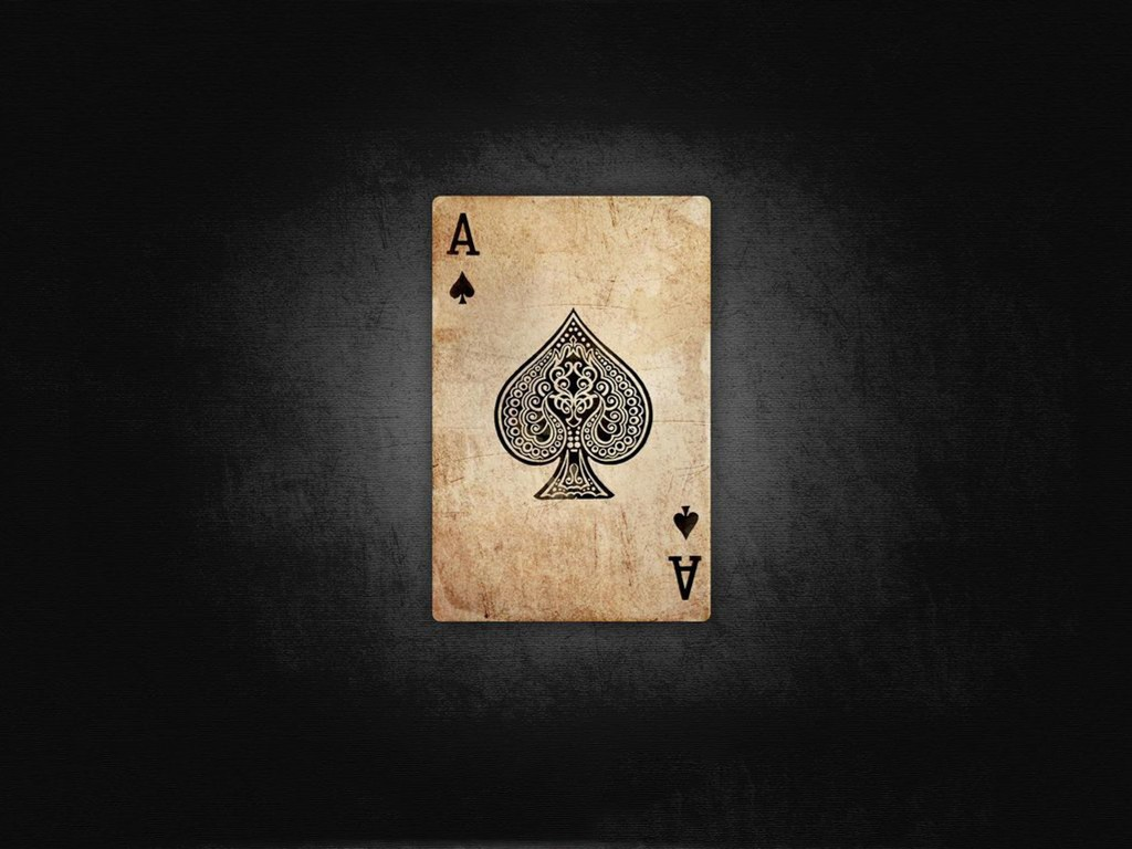 Abstract Wallpaper: Ace of Spades